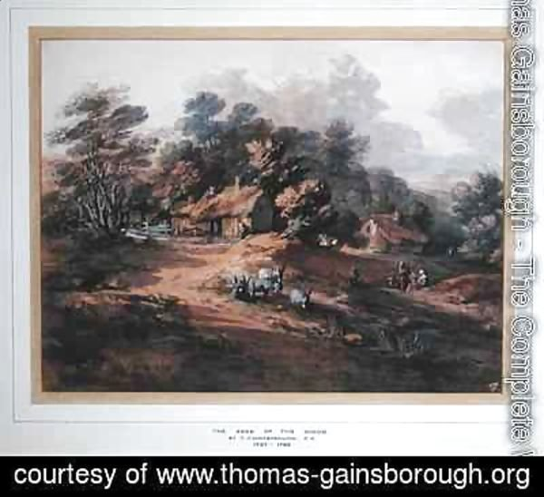 Thomas Gainsborough - Peasants and Donkeys near Cottages at the Edge of a Wood