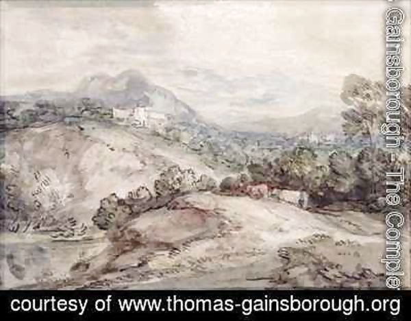 Thomas Gainsborough - A Hilly Landscape