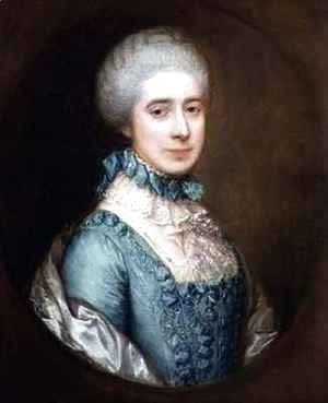 Thomas Gainsborough - Portrait of Mrs Crewe