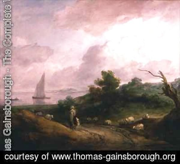 Thomas Gainsborough - Coastal Landscape with a Shepherd and his Flock