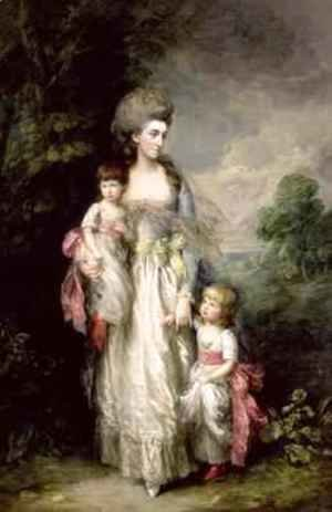 Thomas Gainsborough - Mrs Moody and two of her children