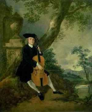 Thomas Gainsborough - The Rev John Chafy Playing a Cello