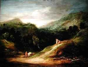 Thomas Gainsborough - Mountain Landscape with a Drover and a Packhorse