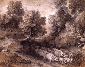 Thomas Gainsborough - Wooded Landscape with Cattle and Goats