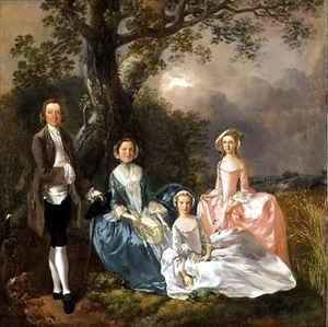 Thomas Gainsborough - Mr and Mrs John Gravenor and their Daughters Elizabeth and Ann