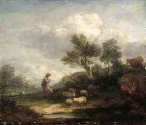 Thomas Gainsborough - Landscape with Sheep 2