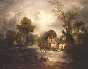 Thomas Gainsborough - A Country Cart crossing a Ford