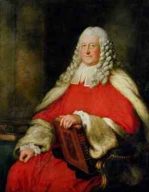 Portrait of Sir Edward Willes in Judges Robes