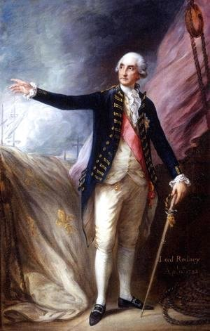 Thomas Gainsborough - George Brydges Rodney 1719-92 Admiral of the White