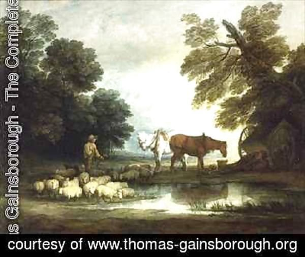 Thomas Gainsborough - Shepherd by a Stream