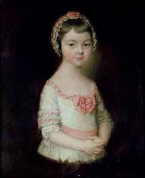 Thomas Gainsborough - Georgiana Spencer afterwards Duchess of Devonshire