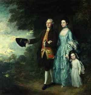 Thomas Gainsborough - Mr and Mrs George Byam and their eldest daughter Selina