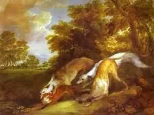 Dogs Chasing A Fox 1784-1785