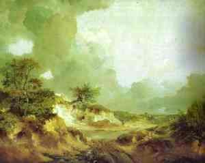 Thomas Gainsborough - Landscape With Sandpit 1746-1747