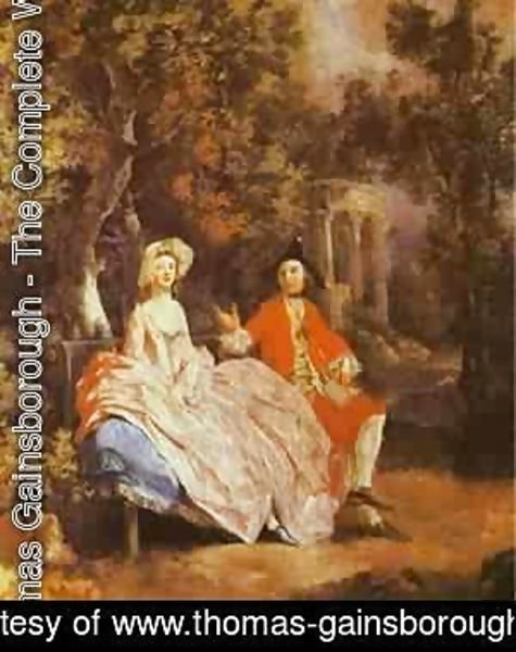 Thomas Gainsborough - Self Portrait With His Wife Margaret 1746-47