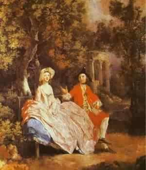 Self Portrait With His Wife Margaret 1746-47