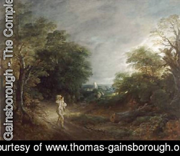 Thomas Gainsborough - Wooded Landscape with a Woodcutter 1762 63