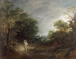 Wooded Landscape with a Woodcutter 1762 63