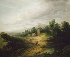 Thomas Gainsborough - Wooded Upland Landscape probably 1783
