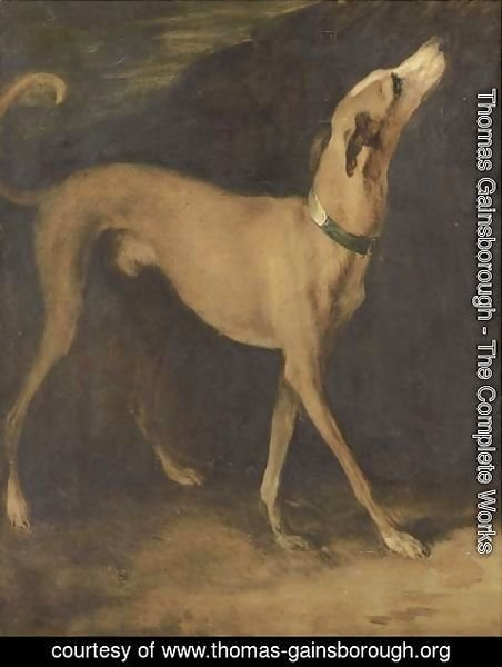 Thomas Gainsborough - A greyhound in a landscape