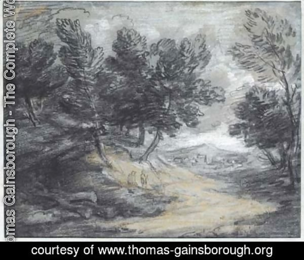 Thomas Gainsborough - A track through a wooded landscape