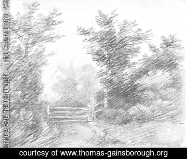 Thomas Gainsborough - Cottage with a gate