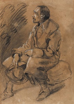 Thomas Gainsborough - Study of a rustic figure