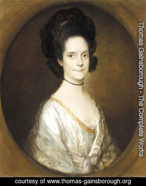 Thomas Gainsborough - Portrait Of Elizabeth Ives, Mrs Thomas Butcher