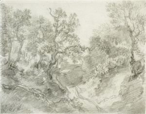 Thomas Gainsborough - Wooded Landscape 2