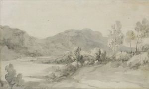 Thomas Gainsborough - A View In The Lake District