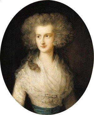Thomas Gainsborough - Portrait Of Elizabeth Bowes, Mrs Croft