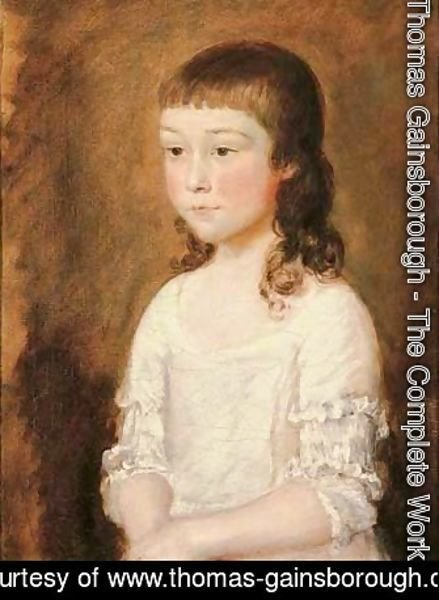 Portrait of a young girl, traditionally identified as Mary Gainsborough