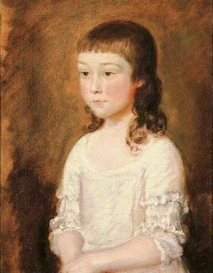Thomas Gainsborough - Portrait of a young girl, traditionally identified as Mary Gainsborough
