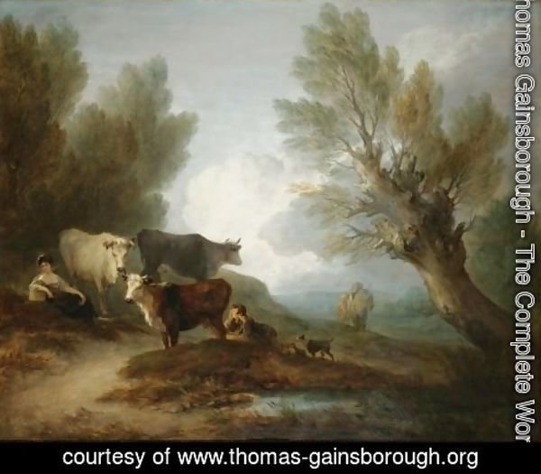 Landscape With Cattle, A Young Man Courting A Milkmaid