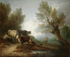 Thomas Gainsborough - Landscape With Cattle, A Young Man Courting A Milkmaid