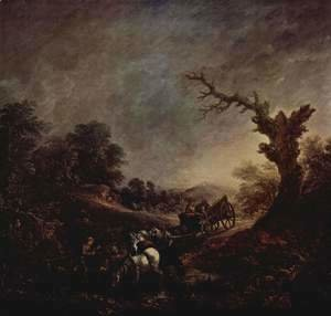 Thomas Gainsborough - Sunset, drinking horses