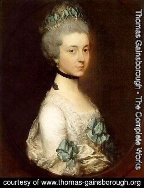 Thomas Gainsborough - Portrait of Lady Elizabeth Montagu, Duchess of Buccleuch and Queensberry