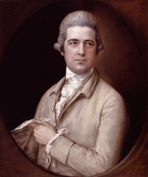 Thomas Gainsborough - Portrait of Thomas Linley