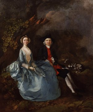 Thomas Gainsborough - Portrait of Sarah Kirby (nee Bull) and John Joshua Kirby