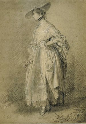 Thomas Gainsborough - A woman with a rose