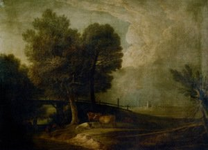 Figures with Cattle in a Landscape