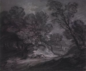 Thomas Gainsborough - Forest landsape with mountain