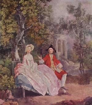 Thomas Gainsborough - Conversation in a Park c. 1740