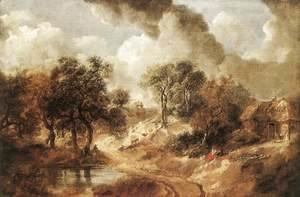 Thomas Gainsborough - Landscape in Suffolk c. 1750