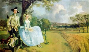 Thomas Gainsborough - Mr and Mrs Andrews 1748-49