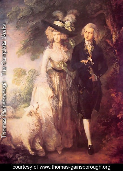 Thomas Gainsborough - Mr and Mrs William Hallett ('The Morning Walk')  1785
