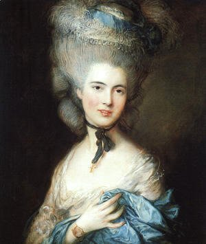 Thomas Gainsborough - Portrait of a Lady in Blue 1777-79