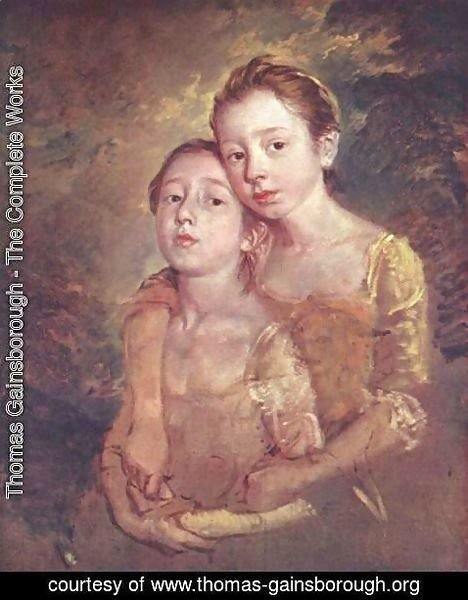 Thomas Gainsborough - The Artist's Daughters with a Cat 1759-61