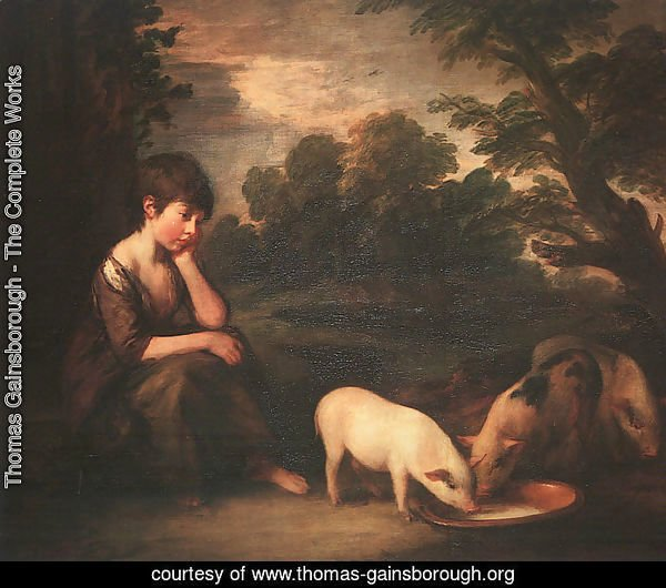Girl with Pigs 1782
