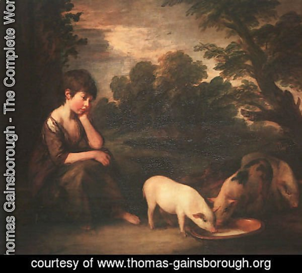 Thomas Gainsborough - Girl with Pigs 1782
